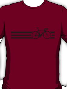 Bike Stripes Black T-Shirt