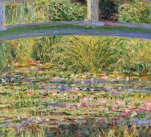 Claude Monet - The Japanese Bridge The Water Lily Pond 1899 Sticker