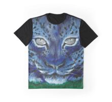Blue Leopard Graphic T-Shirt