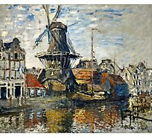 Claude Monet - The Windmill on the Onbekende Gracht, Amsterdam (1874)  Photographic Print