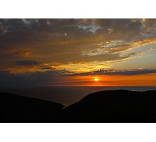 Sunset on MacKenzie Mountain Photographic Print