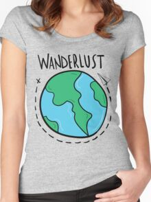 Wanderlust planet. Women's Fitted Scoop T-Shirt
