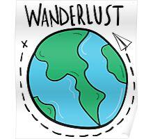Wanderlust planet. Poster
