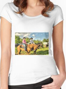 Cowgirls Ride Women's Fitted Scoop T-Shirt