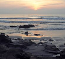 Daybreak at Coquina Rocks Beach by Carol Bailey White