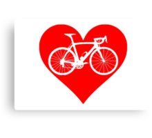 Bike Heart (Red) (Big) Canvas Print