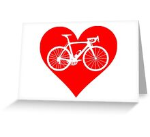 Bike Heart (Red) (Big) Greeting Card