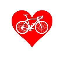 Bike Heart (Red) (Big) Photographic Print