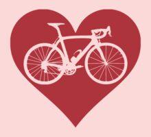 Bike Heart (Red) (Big) Kids Tee