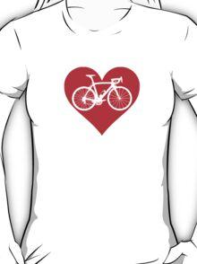 Bike Heart (Red) (Big) T-Shirt