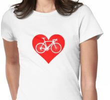 Bike Heart (Red) (Big) Womens Fitted T-Shirt