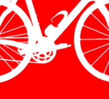 Bike Heart (Red) (Big) Sticker