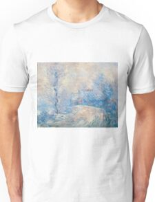 Claude Monet - The Entrance To Giverny Under The Snow  Unisex T-Shirt