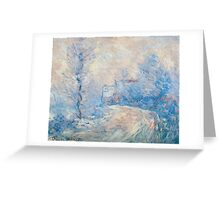 Claude Monet - The Entrance To Giverny Under The Snow  Greeting Card