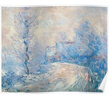 Claude Monet - The Entrance To Giverny Under The Snow  Poster
