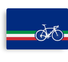 Bike Stripes Italian National Road Race Canvas Print