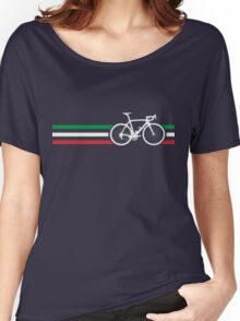 Bike Stripes Italian National Road Race v2 Women's Relaxed Fit T-Shirt