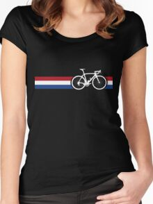 Bike Stripes Netherlands National Road Race Women's Fitted Scoop T-Shirt