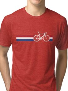Bike Stripes Netherlands National Road Race Tri-blend T-Shirt