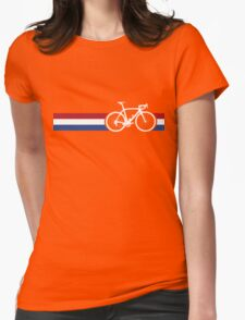 Bike Stripes Netherlands National Road Race Womens Fitted T-Shirt