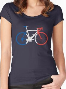 Bike Flag France (Big) Women's Fitted Scoop T-Shirt