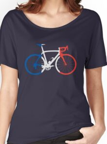 Bike Flag France (Big) Women's Relaxed Fit T-Shirt