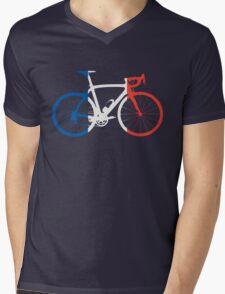 Bike Flag France (Big) Mens V-Neck T-Shirt