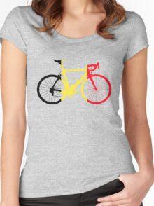 Bike Flag Belgium (Big) Women's Fitted Scoop T-Shirt