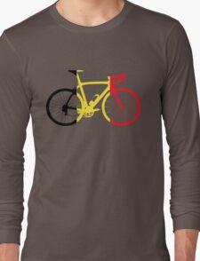 Bike Flag Belgium (Big) Long Sleeve T-Shirt