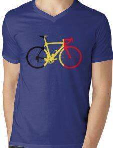 Bike Flag Belgium (Big) Mens V-Neck T-Shirt