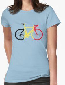 Bike Flag Belgium (Big) Womens Fitted T-Shirt