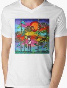 Ladybug Love Mens V-Neck T-Shirt