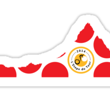 Red Polka Dot 2014 L'Etape du Tour Mountain Profile Sticker
