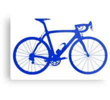 Bike Blue (Big) Metal Print