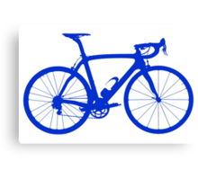 Bike Blue (Big) Canvas Print