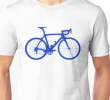 Bike Blue (Big) Unisex T-Shirt