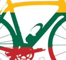 Bike Flag Lithuania (Big) Sticker