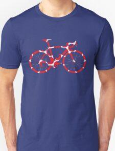 Bike Red Polka Dot (Big) Unisex T-Shirt