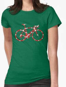 Bike Red Polka Dot (Big) Womens Fitted T-Shirt