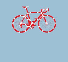Bike Red Polka Dot (Big) Unisex T-Shirt
