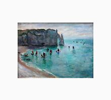 Claude Monet - Etretat The Aval Door Fishing Boats Leaving The Harbour Unisex T-Shirt