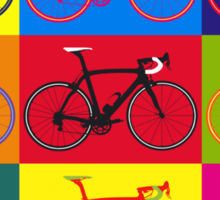 Bike Andy Warhol Pop Art Sticker