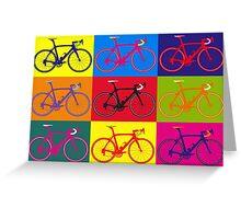 Bike Andy Warhol Pop Art Greeting Card