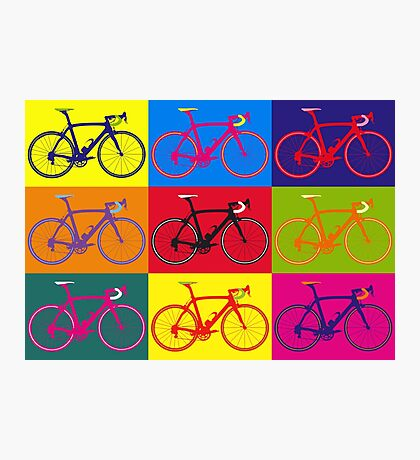 Bike Andy Warhol Pop Art Photographic Print
