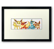 Pokemon Eeveelutions  Framed Print