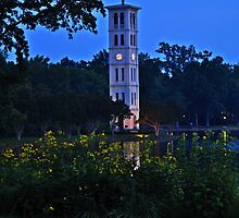 Furman University Bell Tower by Roger Jewell
