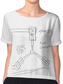 Flux Capacitor Drawing Chiffon Top