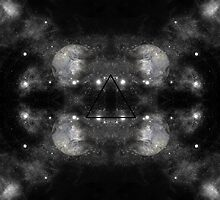 Space Moon Kaleidoscope Pattern by Stacey Muir
