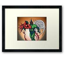 Yu-Gi-Oh! GX Elemental Hero Flame Wingman Framed Print