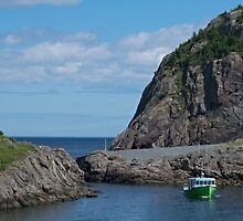 Boat Just Come Through the Gap at Quidi Vidi, NL, Canada by Gerda Grice